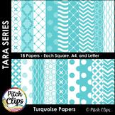 Tara Digital Papers - Turquoise Digital Papers - 18 styles