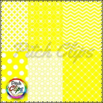 Tara Digital Papers - Yellow Digital Papers - 18 styles