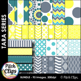 Tara Pack - Clipart (Clip Art) 60 Papers & 23 Ribbons- 4 coordinating colors!