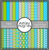 12x12 Digital Paper Set: Tara Collection {A Hughes Design}
