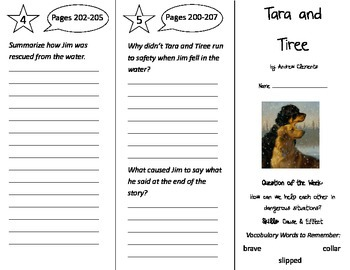 Tara and Tiree Trifold - Reading Street 2nd Grade Unit 2 Week 1
