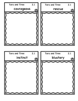 Tara and Tiree vocabulary flap book