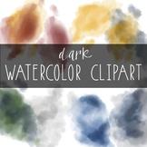 Taracotta Sunrise Dark Watercolor Clipart
