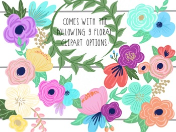 Taracotta Sunrise Cute Floral and Leaf Ring Clipart