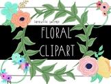 Taracotta Sunrise Cute Floral and Leaf Ring Clipart