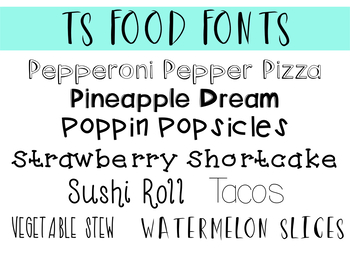 Taracotta Sunrise Food Fonts Bundle for Personal and Commercial Use