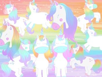 Taracotta Sunrise Pastel Unicorn Clipart