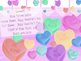 Valentine's Day Conversation Heart Clipart and Banner for Bulletin Boards