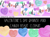 Valentine's Day Conversation Heart Clipart and Banner for