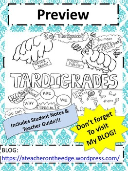Tardigrades aka Water Bears Sketch Notes W/Teacher's Guide & Student Notes!