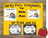 Tardy/Late Pass Template