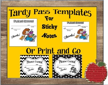 Tardy/Late Pass Template