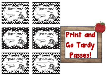 Tardy Late Pass Template