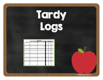 Tardy Log Spreadsheet