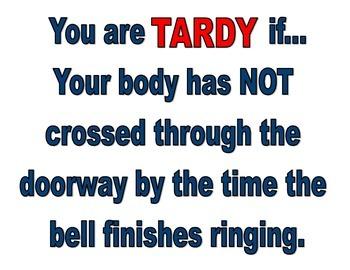 Tardy Poster