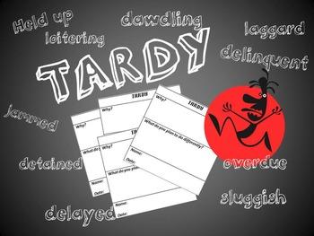Tardy Slip By Sarah Enos