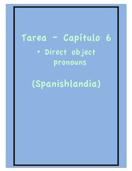 Tarea - Exprésate 1 Capítulo 6 - Direct Object Pronouns (Homework/Classwork)
