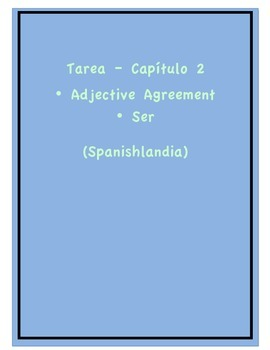 Tarea - Exprésate 1 Capítulo 2 - Adjective Agreement 2 (Homework/Classwork)