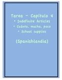 Tarea - Exprésate 1 Capítulo 4 - Indefinite Art., Cuánto (