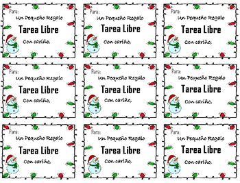 Tarea Libre - Holiday Gift for your Students