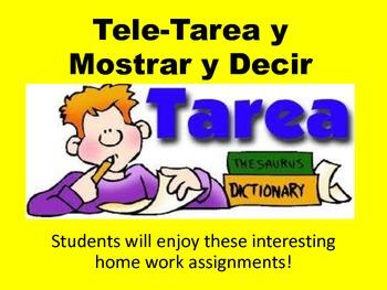 Tarea- Tele tarea y mostrar y decir