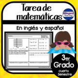 Tarea de matematicas del tercer grado- cuarto semestre
