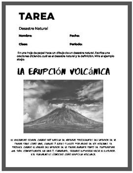 Tarea: desastre natural. Natural Disaster homework.