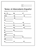Tarea para El Abecedario Español (Homework for the Spanish Alphabet)