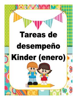 Tareas de Desempeño para Kinder (enero)