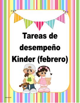 Tareas de Desempeño para Kinder (febrero)