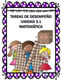 Tareas de desempeño Matemáticas Unidad 3.1 Tercer grado