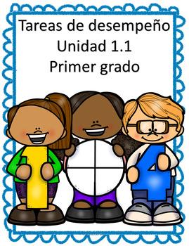 Tareas de desempeño Unidad 1.1 Matemática Primer Grado