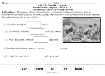 Tareas de desempeño Unidad 1.3 Adquisición de la lengua