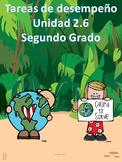Tareas de desempeño Unidad 2.6 segundo grado Adquisición de la lengua