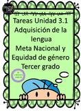 Tareas de desempeño Unidad 3.1 Adquisición de la lengua Tercer grado