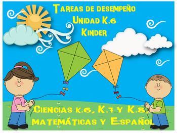 Tareas de desempeño Unidad K.6 kinder