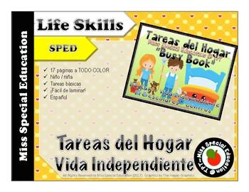 FREE Tareas del Hogar Busy Book- Cut and paste -Vida Independiente o Preescolar