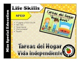 FREE Tareas del Hogar Busy Book- Cut and paste -Vida Indep