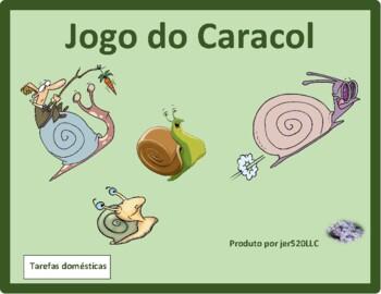 Tarefas domésticas (Chores in Portuguese) Caracol Snail game