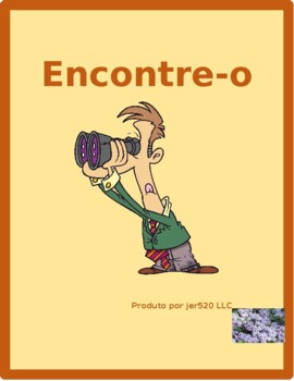 Tarefas domésticas (Chores in Portuguese) Find it Worksheet