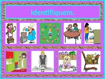 Tarefas domésticas (Chores in Portuguese) PowerPoint