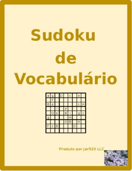 Tarefas domésticas (Chores in Portuguese) Sudoku