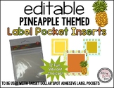 Target Adhesive Label Pocket Inserts (Pineapple Themed!)