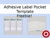 Target Adhesive Label Pocket Template