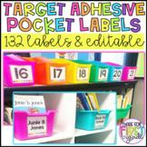 Target Adhesive Pocket Labels: 132 Labels & EDITABLE