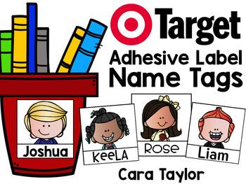 Target Adhesive Pockets ~ Editable Student Name Tags