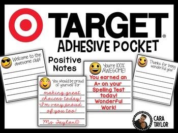 Target Adhesive Pockets Positive Notes