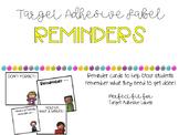 Target Adhesive Reminders