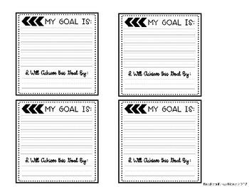 Target Adhesive Squares: Goal Setting