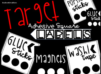 Target Adhesive Squares Supply Labels and EDITABLE Labels